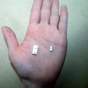 ダイヤブロックとナノブロックの大きさ比較