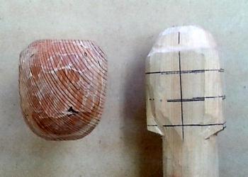 仏頭の彫り方(お顔を丁寧に彫り進める2)