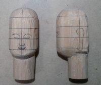 仏頭の彫り方(角を削る)