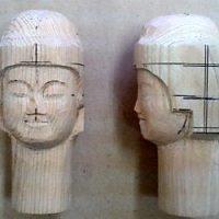 仏頭の彫り方(お顔を丁寧に彫り進める)