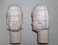 仏頭の彫り方(大まかにお顔を彫る1)