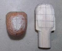 仏頭の彫り方(角を削る1)