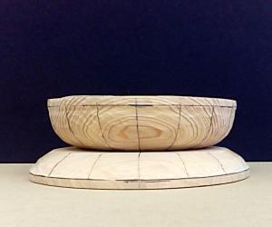 蓮華座の彫り方(16等分した蓮華部と反花)