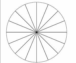 16等分割した円