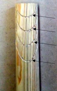 翻波式の彫り方(三角刀で線を彫る)