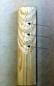 翻波式の彫り方(稜線ができるようにさらに丸刀でを彫る)