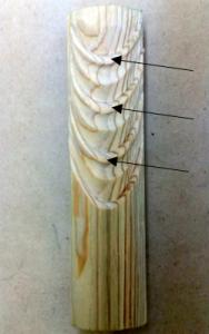 翻波式の彫り方(角をとり仕上げる)