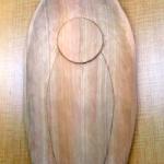 舟形光背(透かし唐草)の彫り方 その1(舟形に彫る)