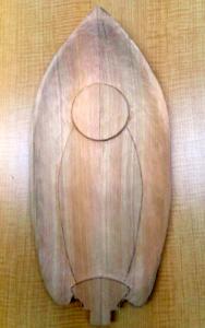 周縁部以外を厚めにしておく(舟形光背の彫り方)