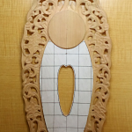 舟形光背(透かし唐草)の彫り方 その2(唐草を彫る)