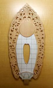 唐草を彫る(全体)(舟形光背の彫り方)