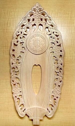 仕上げる(舟形光背の彫り方)