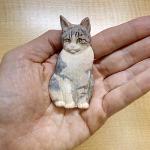 レリーフを彫る方法~ネコ編~