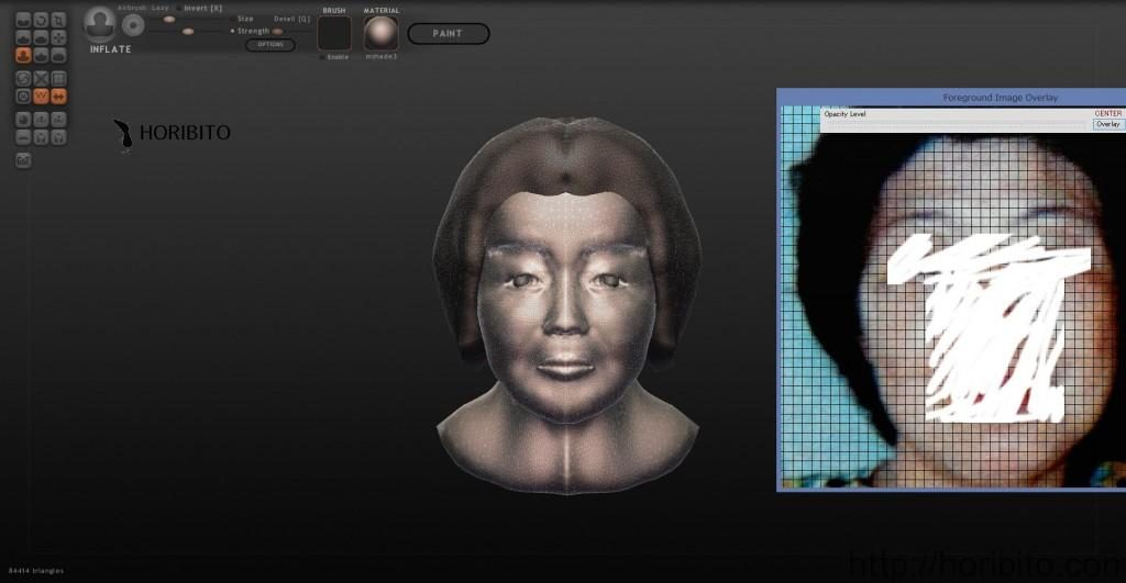 「Sculptris(スカルプトリス)」で作った人の顔