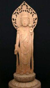 聖観音立像(像高28cm)