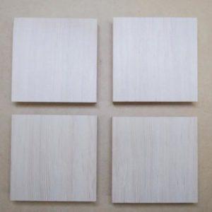 文様動物園を彫る板材4枚