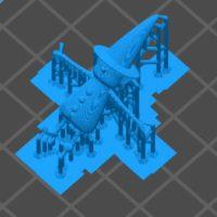 ホリビトの3Dデータにサポートをくっ付ける
