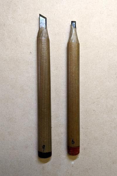 キワ刀9mm、平刀6mm