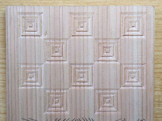 三枡繋ぎの木彫り完成