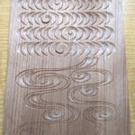 流水文の木彫サンプル
