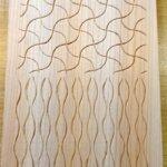 分銅繋ぎ、立涌の木彫り完成