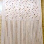 山路文、三筋立の木彫り完成