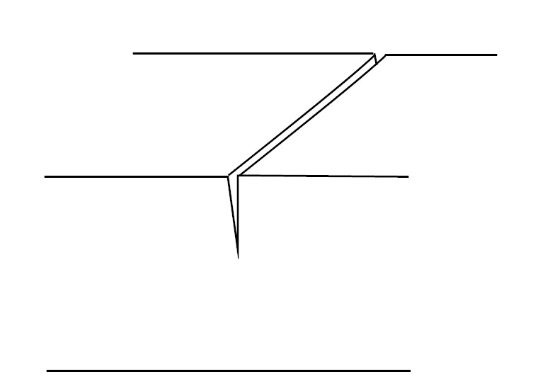 キワ刀一本で線を彫る_過程2-1
